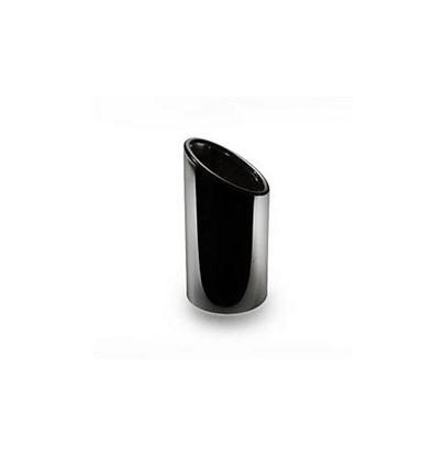 Resim Siyah krom kaplı paslanmaz çelik egzos ucu