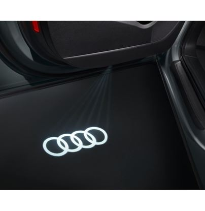 Resim Giriş alanı için LED'li Aydınlatma Audi logosu