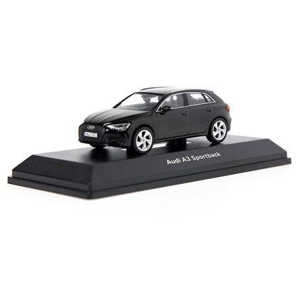 Resim Audi A3 Sportback, Model Araç, Myth Siyah, 1:43